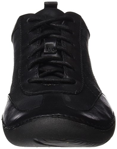 Clarks Damen Autumn Garden Sneakers Schwarz (Black Leather)
