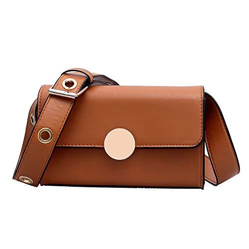 Bfmyxgs Fashion Messenger Bags für Frauen Mädchen Verschlussabdeckung Softshell mit weichem Griff Ins Bag Einfache Diagonale Kreuz Paket Kleines Quadrat Paket Schicke Paket Umhängetasche Tasche Totes