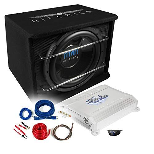 HIFONICS Basspaket 2-Kanal Endstufe/Verstärker+30cm Subwoofer+Kabel-Set 800W / TS-300R + VXI-4002 + REN10KIT 800w Auto Subwoofer