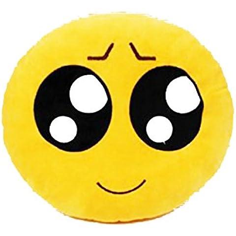 Leorx Cuscino a forma di Emoticon, rotondo,