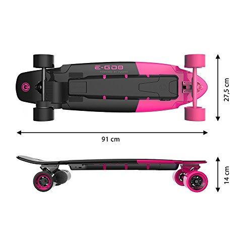 yuneec EGO 2S de longboard Hot Rosa Incluye Accesorios eléctrico de longboard S GO 2