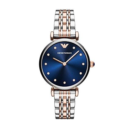 f5004ff8639f Emporio Armani Reloj Analogico para Mujer de Cuarzo con Correa en Acero  Inoxidable AR11092