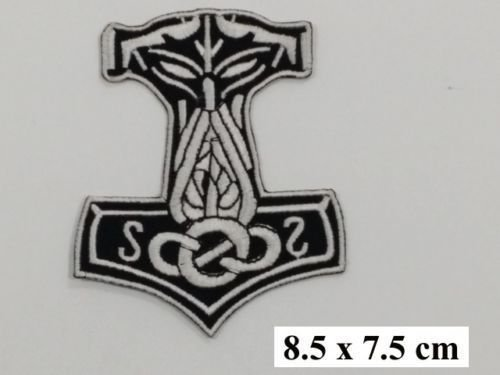 Mj?lnir Viking Thor Hammer Loki Odin Skins Iron On Embroidered Patch 3.1/8.2cm x 2.4/7cm By SSLINK by patch.ss