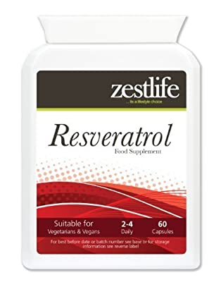 Zestlife Resveratrol - 60 capsules | May help lower bad cholesterol. Protects cells from oxidative damage caused by free radicals.