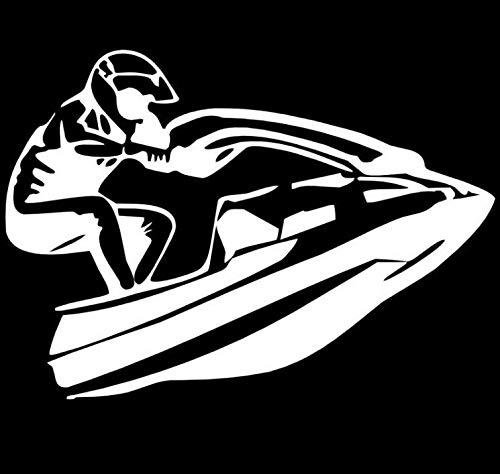 Auto Aufkleber Motorboot Reiten coole Motorrad Aufkleber Vinyl Auto Body Aufkleber Auto Styling 15 5X11 cm 2 Stck