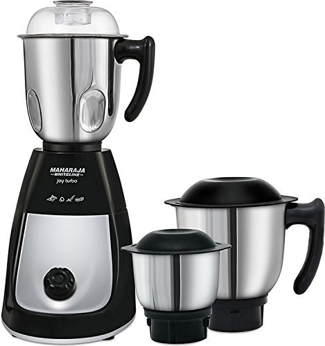 Maharaja Whiteline Joy Turbo 750 Watt Mixer Grinder with 3...
