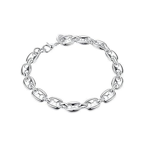 Hot vente NYKKOLA Jewelry Charm en argent massif pour Bracelet au Design classique