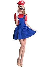 Ninimour Super Mario Bros Damen Halloween Kostüme