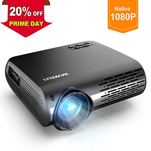 Proyector, WiMiUS 5000 Lúmenes Proyector Full HD 1920x1080P Nativo Proyector Video Compatible...