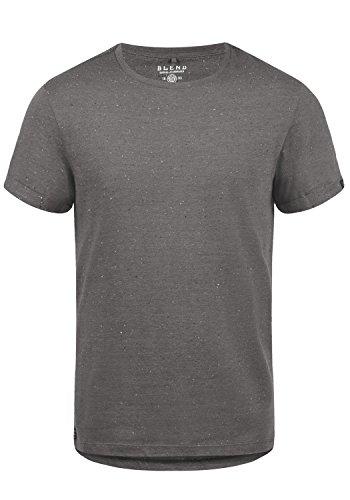 Blend Napito Herren T-Shirt Kurzarm Shirt Mit Rundhalsausschnitt, Größe:M, Farbe:Pewter Mix (70817)