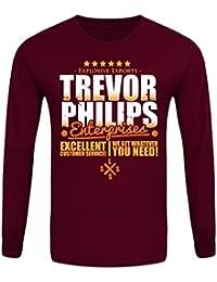 T-Shirt à manches longues Trevor Philips Enterprises Homme Bordeaux