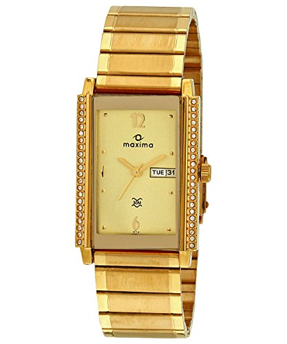 Maxima Formal-Gold Day-Date Champagne Dial Men -19741CMGY image