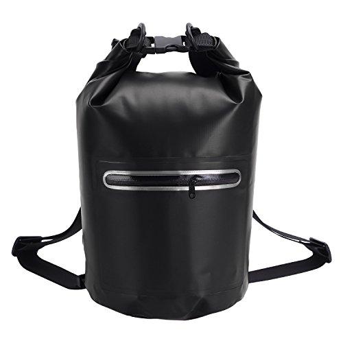 NONMON Dry Bag Waterproof Roll Top Sack für Strand, Wandern, Kajak, Angeln, Camping und andere Outdoor-Aktivitäten schwarz 10 Liter (Bag Roll-top-dry)
