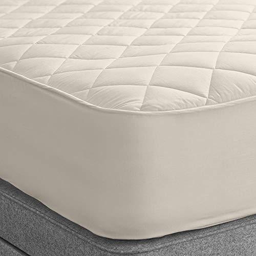WOOLROOM Deluxe - Protector de colchón de Lana, algodón Lana, Champgne, Suelto