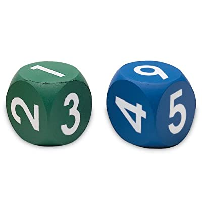 Learning Resources Foam Number Dice by Learning Resources