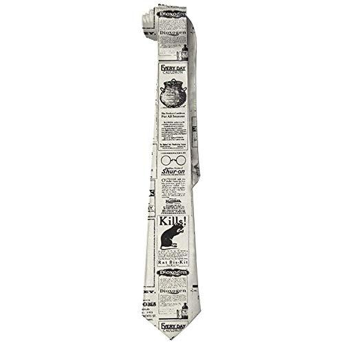 uykjuykj Newspaper Skinny Tie Elegant Necktie Formal Party Suit Necktie For Men