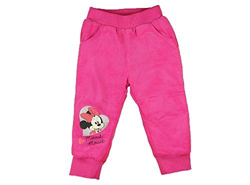 Mädchen CORD-HOSE / BABY-HOSE GEFÜTTERT, Minnie Mouse Motiv, GRÖSSE 80, 86, 92, 98, 104, 110, 116, SPIEL-HOSE mit verdeckten Seiten-Taschen, als Freizeit-Hose oder Jogging-Hose Size 116