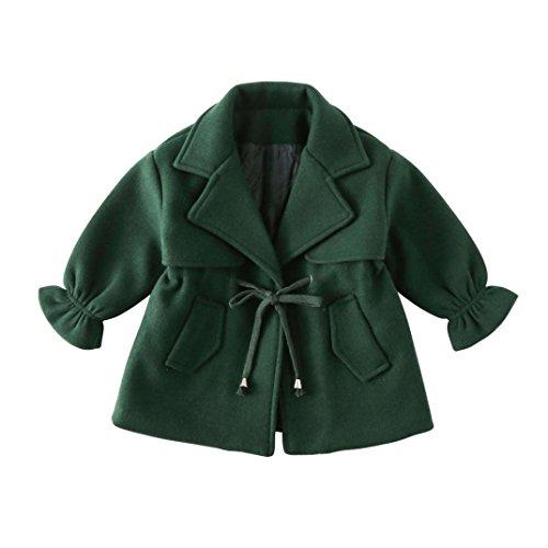 manteau bébé, Tpulling Bébé filles Vêtements chauds hiver manteau laine Veste épais usure Tpulling
