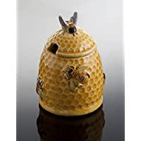 Bassano italienische Keramik Honigtopf mit Biene, Honigspender 0,2l, 13x8