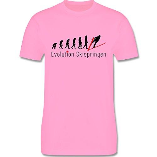 Evolution - Skispringen Evolution - Herren Premium T-Shirt Rosa