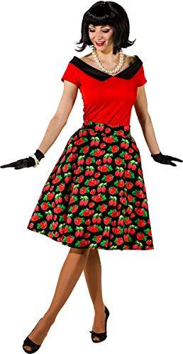 Orlob Damen Kostüm 50er Jahre Rock'n Roll Rock Erdbeere Karneval Gr.M (And Roll Rock Kostüme 50er Jahre)