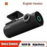 70mai Grabador de Conducción de Automóviles Cámara de Dash 1080 P Full HD Smart Car DVR Versión Nocturna 130 Grados FOV Camo Dash CAM G-Sensor Dashcam Control de Voz Inglés, Negro