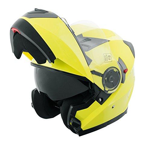 Casco-Modulare-Apribile-Moto-Touring-Sport-Visiera-Parasole