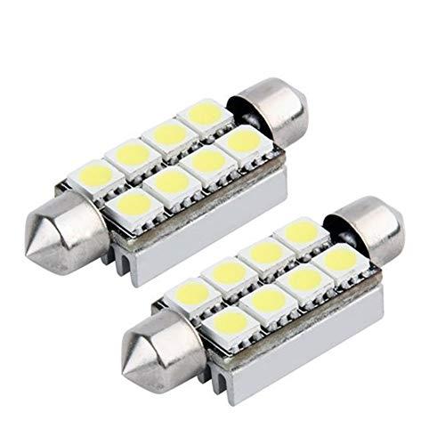 578 ampoule LED, 2pcs 42mm 1,65 pouces 8SMD Festoon LED carte intérieure Dôme de porte intérieur ampoules 211-2 212-2 569 578 6411, couleur blanc Pièces automobiles pratiques et faciles à utiliser