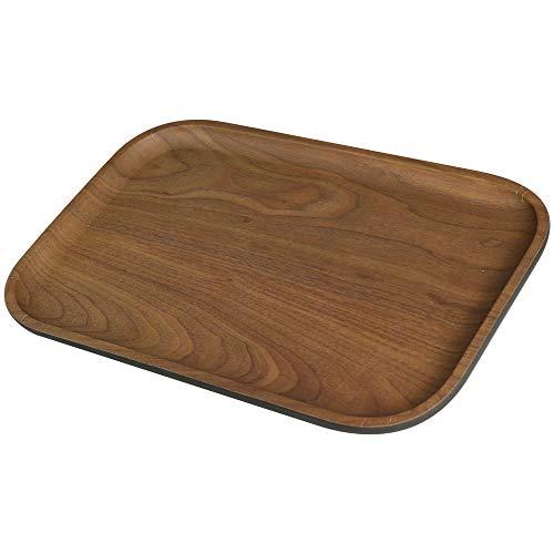 BIOZOYG Bio Bambus Serviertablett Melamin Servierplatte I 2 Stück Tablett Bambus rechteckig 30 x 20 cm I Umweltfreundliches Holztablett Kaffee-Tablett Küche Bambus-Tablett Tee-Tablett Snackteller -