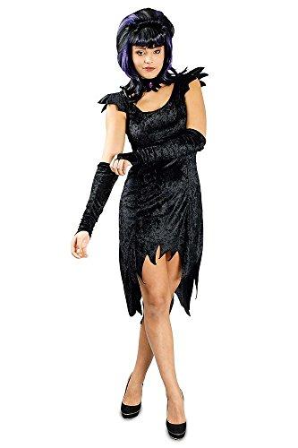 Hexe Lahja Kostüm - Schwarz Gr. 36 - Kostüm Für Witwe Erwachsene Schwarze