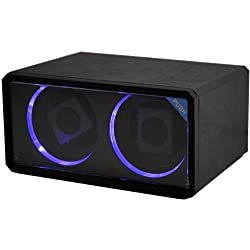 CKB Ltd DUAL BLACK Double Automatic Watch Winder with LED Lights 4 Timer Modes Premium Silent Motor - CKBLED76B