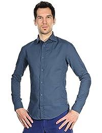 Armani Jeans Hommes Chemise Bleu fonce V6C38BA-5P