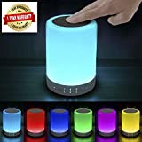 KONARRK Multi-Function Wireless LED Speakers Nightlight Touch Lamp with Micro SD Card Slot Compatible with All Bluetooth Devices (Colour May Vary)