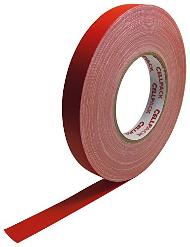Cellpack 146066 90 0.305 - 25 - 50, Stoff-Band, beschichtete Baumwolle, rot