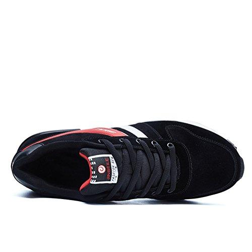 HooH Sneakers Basse Moda Traspirante Mesh Comodo Suola Assorbimento Degli Urti Scarpe Sportive Rosso