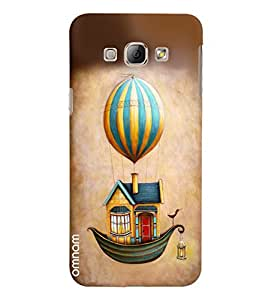 Omnam House With Boat Base And Flying With Hot Ballon Printed Designer Back Cover Case For Samsung Galaxy A8