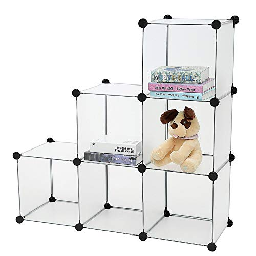 House of Quirk DIY Bookcase Media Storage Standing Shelf Storage Cabinet Cube