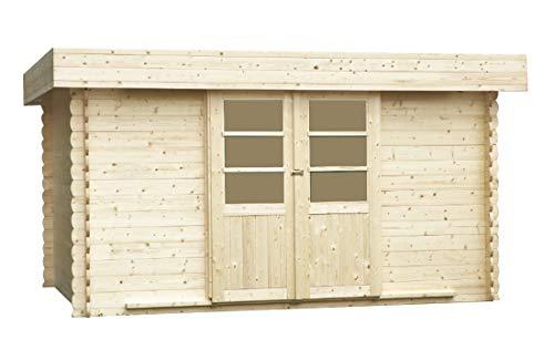 Alpholz Gartenhaus EUPEN aus Fichten-Holz | Gartenhütte mit Dacheindeckung| Geräteschuppen...