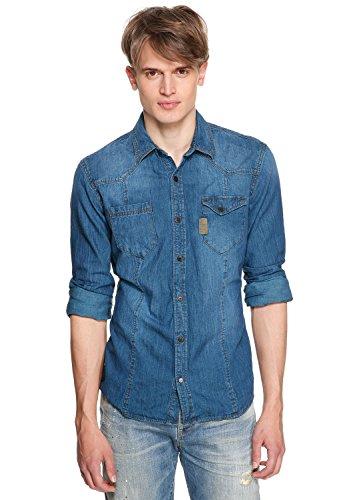QS by s.Oliver Jeans Shirt Extra Slim, Größe:L;Farbe:Blue