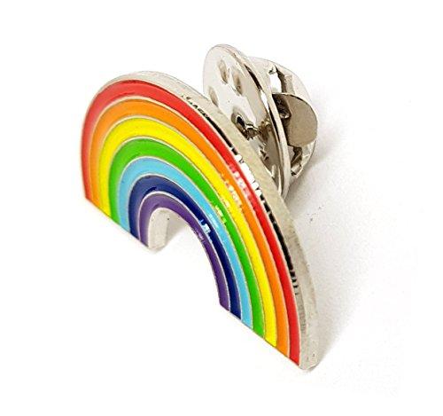 Anstecknadel mit Motiv: LGBT Regenbogen, aus Metall, hochwertig, für Kleidung, Rucksack, Mützen. -