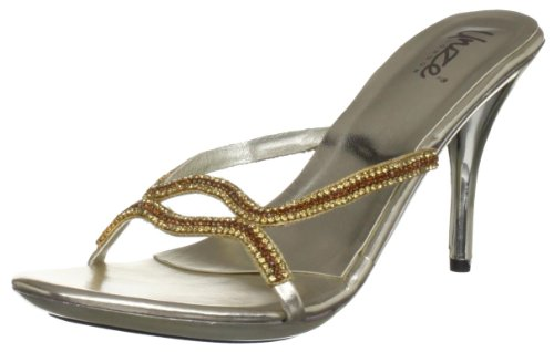 Unze Evening Sandals, Sandali donna Oro (Gold (L18567W))