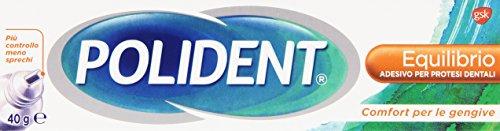 Polident - Equilibrio, Adesivo per Protesi Dentali, Comfort per le gengive - 40 g
