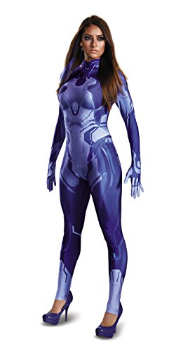Kostüm Cortana - Halo Cortana Womens Bodysuit Fancy dress costume Medium