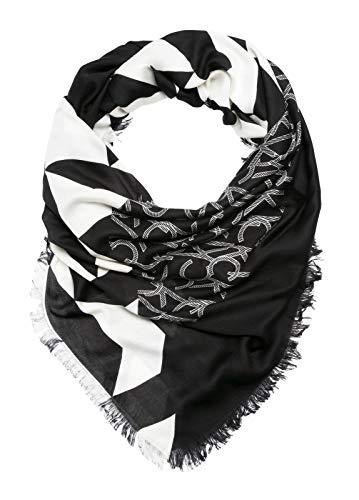 Calvin Klein Damen Quilt Foulard Scarf Schal, Schwarz (Black 001), One Size (Herstellergröße: OS) Calvin Quilt