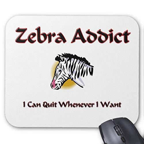 Zebra Addict Mauspad Computer Mousepad 300 * 250 * 3mm Black Zebra Laser