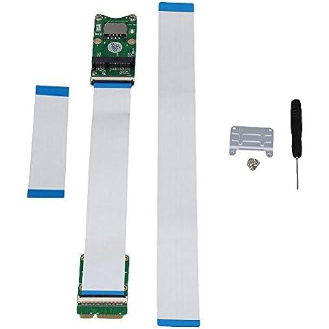 BQLZR verde Metal Plástico Mini PCI-Ex mSATA Flexible 10/20/30cm exender Cable con Sim ranura para tarjeta de