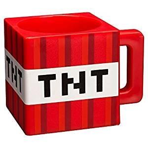 Kostüm Coole Videospiel - Minecraft 8.89343E+11 Trinkbecher im TNT-Block-Design, 290 ml, Kunststoff, mehrfarbig