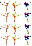 Colourful Ballet Dancers Cake Decorations - Edible Cup Cake Toppers (Pack of 12)
