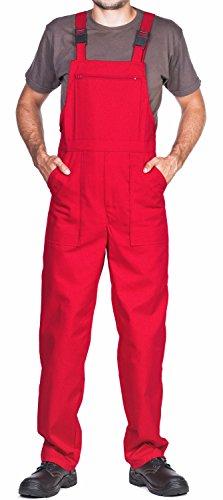 ProWear Arbeitslatzhose Herren Größen S-XXXL Arbeitshose Latzhose arbeits Latzhose Arbeitskleidung (XXXL, Rot)