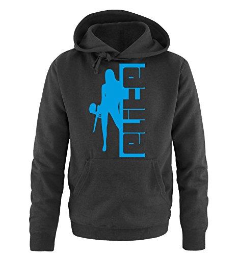 Comedy Shirts - PAINTBALL - ELITE - Uomo Hoodie cappuccio sweater - taglia S-XXL vari colori nero / blu